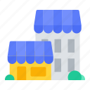 building, complex, shooping, shop, store icon