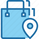 bag, business, location, place, shop, shopping, track icon