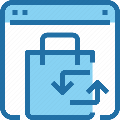 arrow, browser, business, exchange, shop, shopping icon