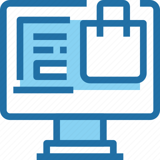 bag, business, computer, online, shop, shopping icon
