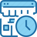 business, management, shop, shopping, store, time, timer icon