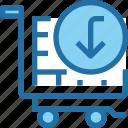 arrow, business, cart, shop, shopping icon