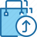 arrow, bag, business, commerce, shop, shopping icon