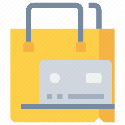bag, credit card, payment, shop, shopping icon