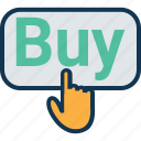 buy button, click buy, ecommerce, hand on buy, online buy, online shop, online shopping icon