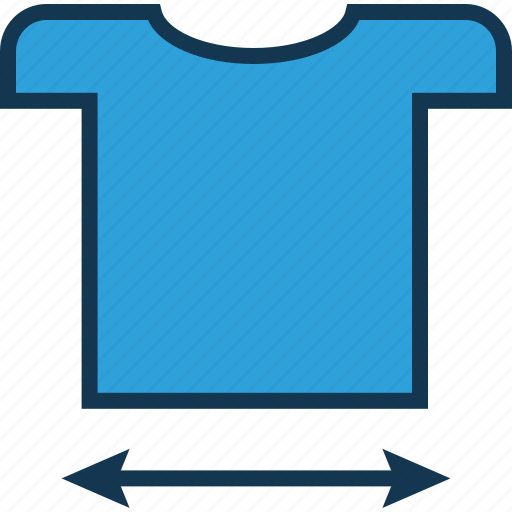 extent size, shirt, shirt dimension, shirt with arrow, size guide, sizing, t shirt size icon