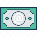 banknote, currency, currency note, dollar, money, paper money, paper note icon