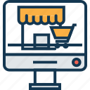 building, dropshipping, marketplace, online marketplace, shop, shopping online, store icon