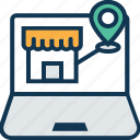 building, location online, marketplace, shop, shop location online, shopping store, store icon