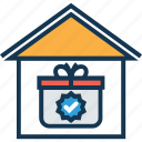 gift house, gift pack, house, house and gift pack, marketplace, pack, surprise icon