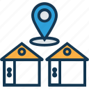 house distance, house location, house map, location marker, location pin, map locator, map pin icon