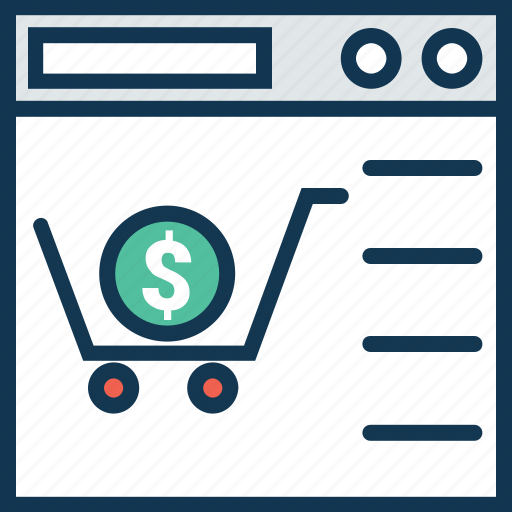 e commerce, monitor, online buying, online shop, online shopping, online store, shopping cart icon