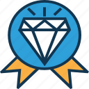 badge, character, diamond, diamond badge, gem, jewel, precious character icon