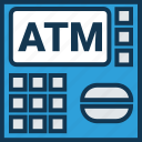 atm, atm machine, automated teller machine, banking, cash line, cash machine, cash point icon