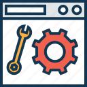 cog, internet setting, web options, web preferences, web setting, web tools, webpage icon