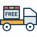 cargo, delivery van, lorry, shipment, shipping truck, transport, vehicle icon