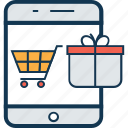 buying, device cart, mobile shopping, online shop, shop, shopping, store icon