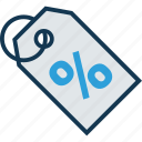 business, discount offer, discount tags, finance, low percentage, percentage, percentage ratio icon