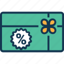 discount coupon, discount receipt, discount voucher, percentage, sale voucher, shopping voucher icon