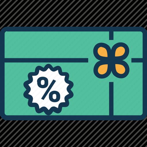 discount coupon, discount receipt, discount voucher, percentage, sale voucher, shopping voucher icon