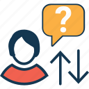 ask question, comments, faq, faq bubble, help, query, question icon