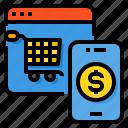 cart, money, online, payment, shopping, smartphone