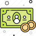 cash, money, payment, shopping