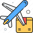 airplane, delivery, logistics, shipping