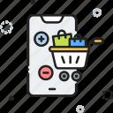 cart, ecommerce, mobile, phone, shopping