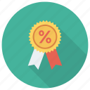 award, badge, discount, label, medal, ribbon, sale icon