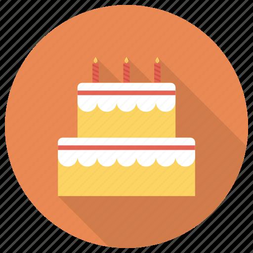 birthday, birthdaycake, cake, dessert, food, sweet, weddingcake icon