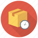 parcel, clock, watch, shipping, delivery, timer, time