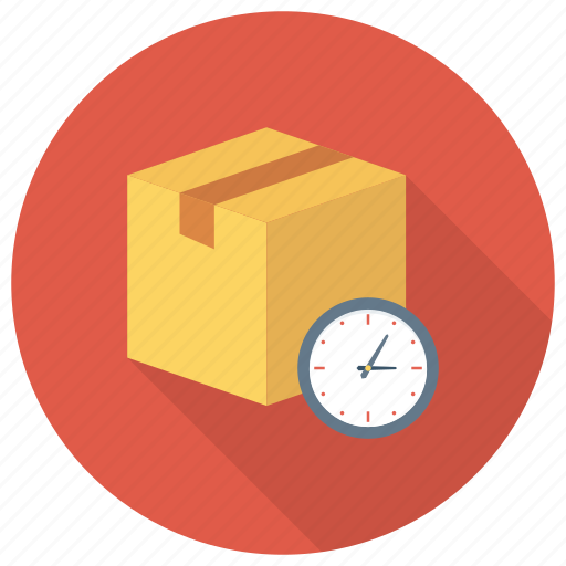 Clock, delivery, parcel, shipping, time, timer, watch icon - Download on Iconfinder
