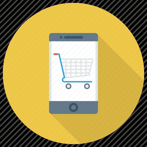 cart, mobile, mobileretail, onlineshopping, phone, shop, shopping icon