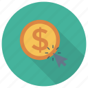 cash, click, finance, money, pay, payment, payperclick icon