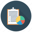 analytics, business, chart, document, graph, interview, report icon