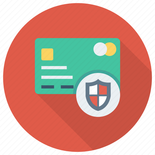 Secure, lock, credit, protection, debit, security, card icon