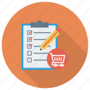 shop, shopping, checklist, cart, shoppingcart, shipping, ecommerce