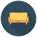 chair, couch, furniture, interior, livingroom, seat, sofa icon