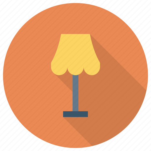 bulb, desk, floorlamp, furniture, lamp, light, table icon