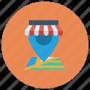 gps, location, map, navigation, pin, shop, shopping