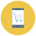 cart, mobile, mobileretail, onlineshopping, phone, shop, shopping icon