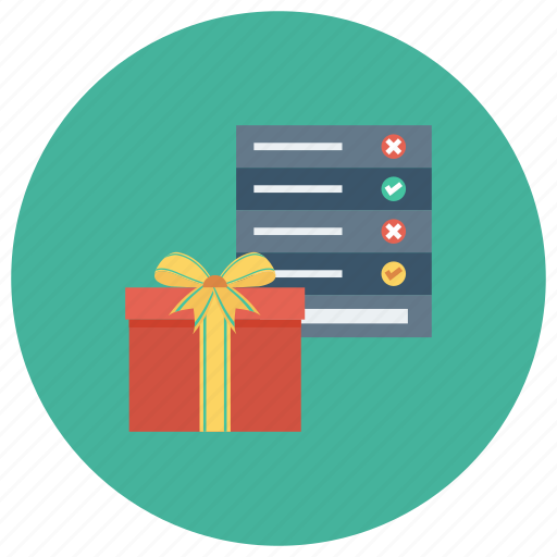 box, checklist, christmas, gift, present, presentlist, wishlist icon