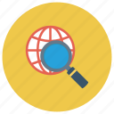 find, glass, global, magnifier, search, seo, zoom icon