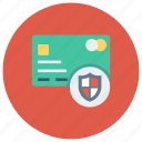 card, credit, debit, lock, protection, secure, security icon