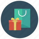 cart, ecommerce, gift, present, shop, shopping, shoppingbag icon