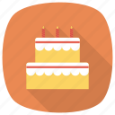 birthday, birthdaycake, cake, dessert, food, sweet, weddingcake icon