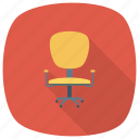 armchair, chair, furniture, interior, office, officechair, seat icon