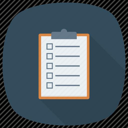 check, checkbox, checklist, checkmark, document, list, todolist icon