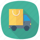 box, delivery, deliverytruck, freedelivery, shipping, transport, truck icon